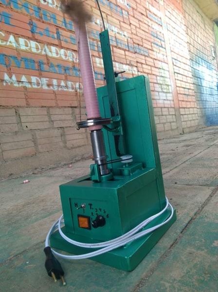 Máquina hiladora vertical