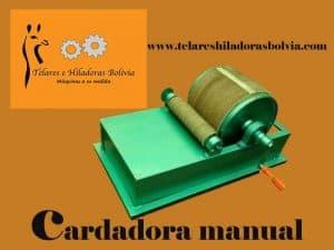 Cardadora manual